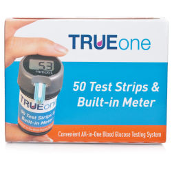 TRUEone All-In-One Blood Glucose Monitor With Test Strips (50 Strips)