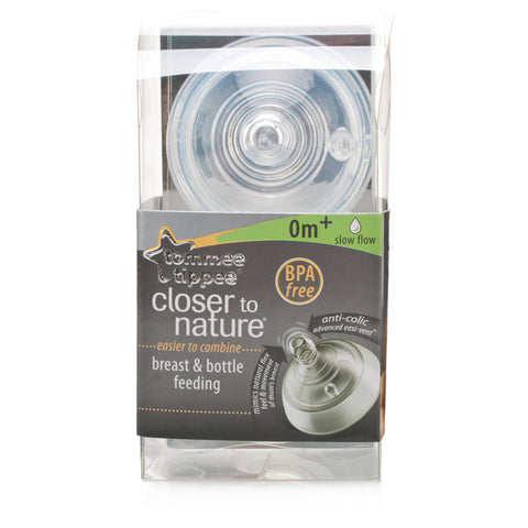 Tommee Tippee Closer To Nature Easivent Teats (Slow Flow)