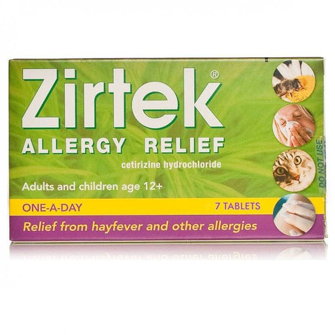 Zirtek Allergy Relief Tablets (7 Tablets)