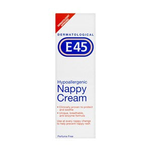 E45 Nappy Rash Cream (125g Tube)