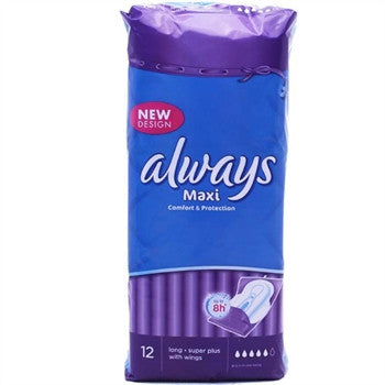 Always Maxi Long Super Plus (12 Towels)