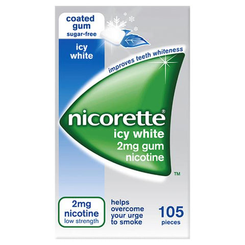 Nicorette Gum 2mg Icy White (105 Pieces)