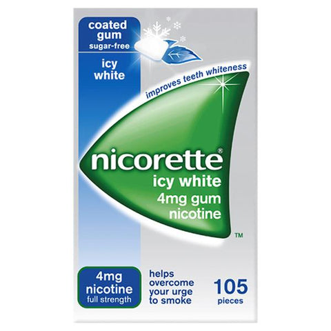 Nicorette Gum 4mg Icy White (105 Pieces)