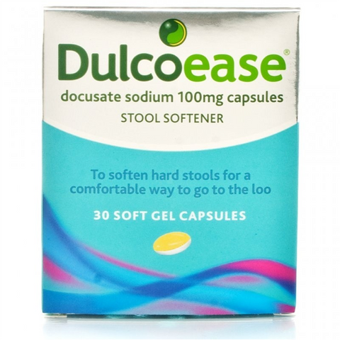 Dulcoease Stool Softener 100mg Capsules  (30 Soft Gel Capsules)