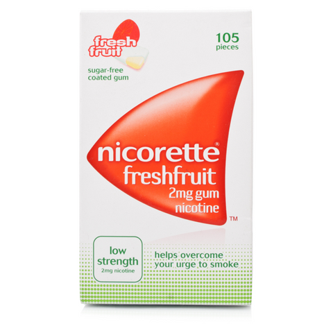 Nicorette Gum 2mg Freshfruit (105 Pieces)