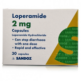 30 x Loperamide Capsules 2mg FREE DELIVERY