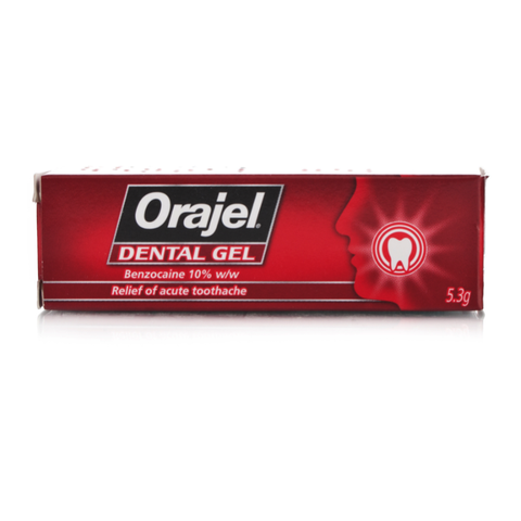 Orajel Regular Dental Gel (5.3g Tube)