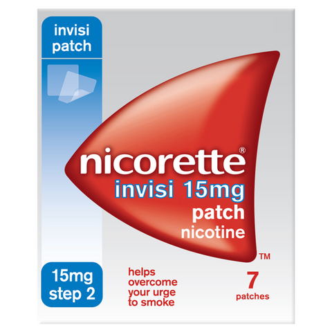 Nicorette Invisi Patch 15mg - Step 2 (7 Patches)