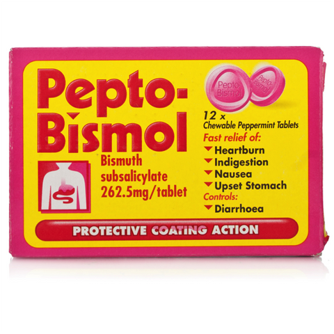 Pepto-Bismol Chewable Tablets (12 Tablets)