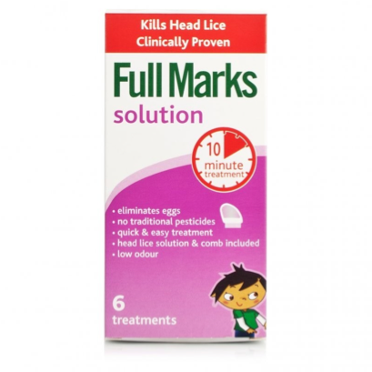 Full Marks Head Lice Solution (6 Treatments: 300ml Bottle + Comb)