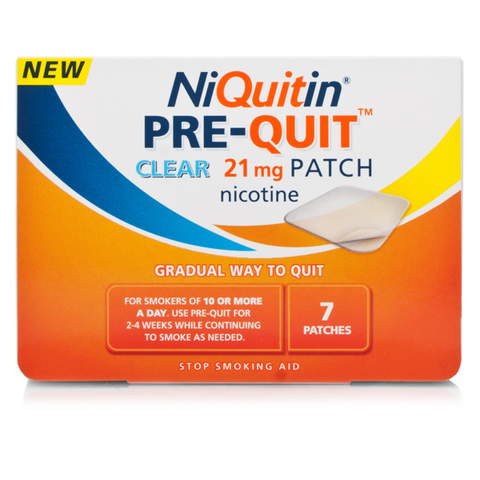 NiQuitin CQ Pre-Quit Clear Patch 21mg (7 Patches)