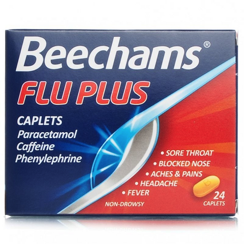 Beechams Flu-Plus Caplets (24 Caplets)