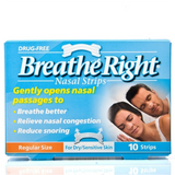 Breathe Right Nasal Strips CLEAR -  Sm/Md Size (10 Clear Small/Medium size Strips)