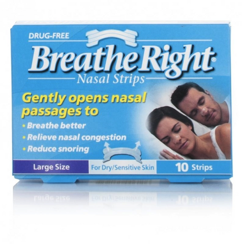 Breathe Right Nasal Strips CLEAR - Large Size (10 Clear Strips)
