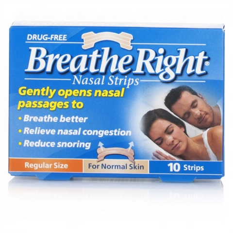 Breathe Right Nasal Strips Regular Size (10 Strips)