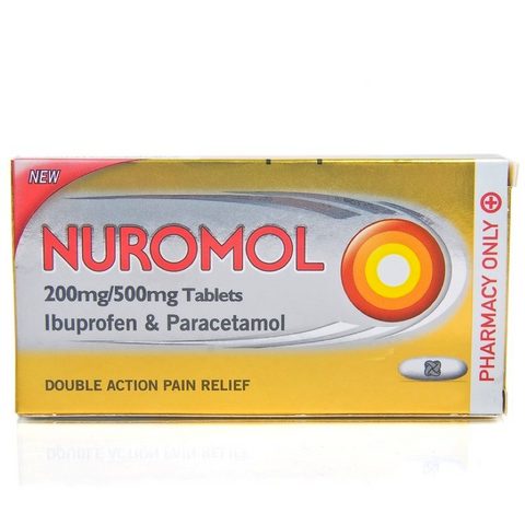 Nuromol Double Action 200mg/500mg (12 Tablets)