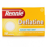 Rennie Deflatine Sugar Free Mint (18 Tablets)