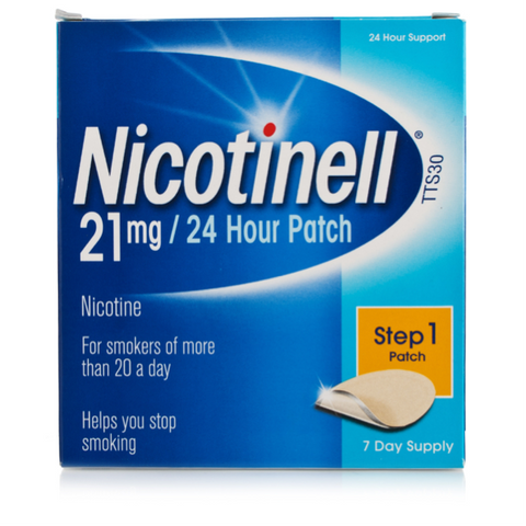 Nicotinell 21mg/24hr Patches TTS30 large (7 Patches)