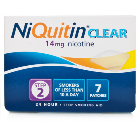 NiQuitin CQ Clear Patch 14mg - Step 2 (7 Patches)