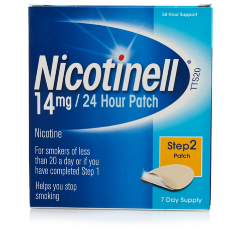Nicotinell 14mg/24hr Patch TTS20 Medium (7 Patches)