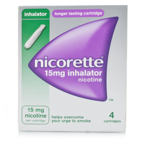 Nicorette Inhalator 15mg (4 Cartridges)
