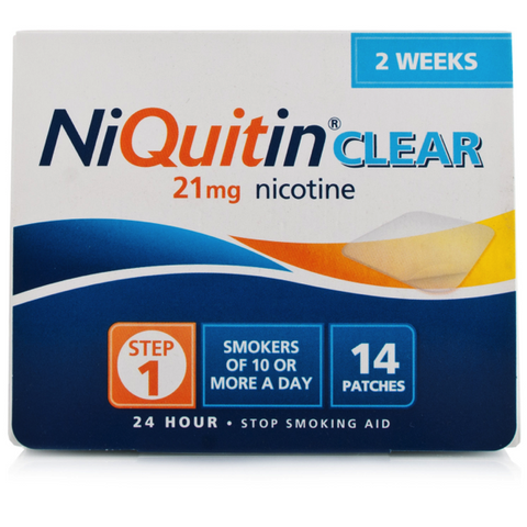 NiQuitin CQ Clear Patch 21mg - Step 1 (14 Patches)