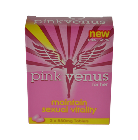 Pink Venus Single Pack 2 x 850mg Pills