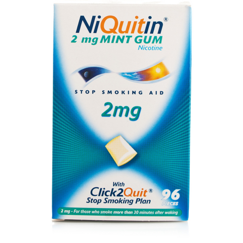 NiQuitin 2mg Gum Mint (96 Pieces)