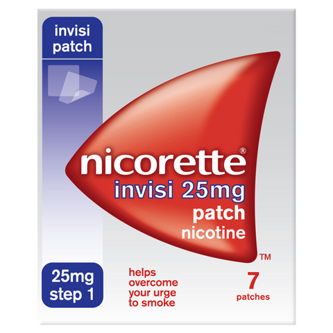 Nicorette Invisi Patch 25mg - Step 3 (7 Patches)