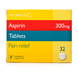 Aspirin Tablets 300mg (32 Tablets)