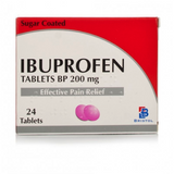 Ibuprofen Tablets 200mg FREE DELIVERY (24 Tablets)