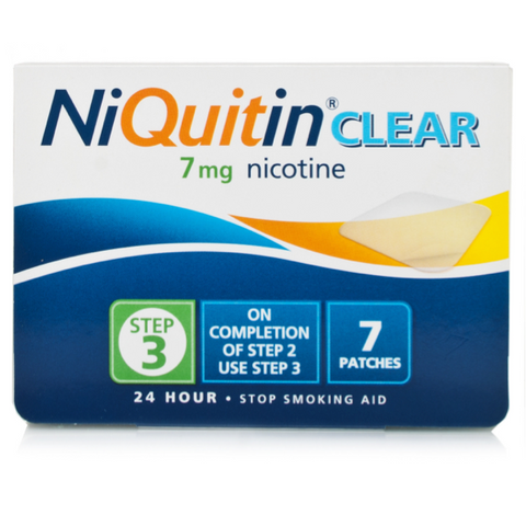 NiQuitin CQ Clear Patch 7mg - Step 3 (7 Patches)