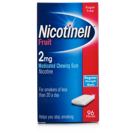 Nicotinell Gum 2mg Fruit (96 Pieces)