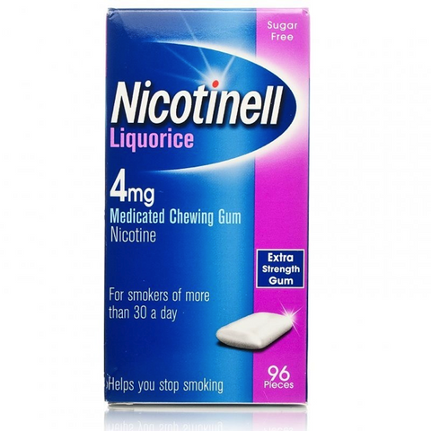 Nicotinell Gum 4mg Liquorice (96 Pieces)