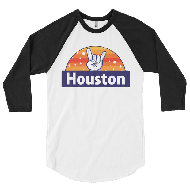 Men's Houston 3/4 sleeve raglan shirt