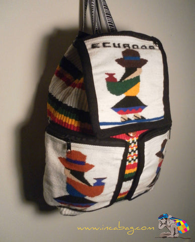 INCA HANDWOVEN PACHAMAMA COTTON WOOL BACKPACK