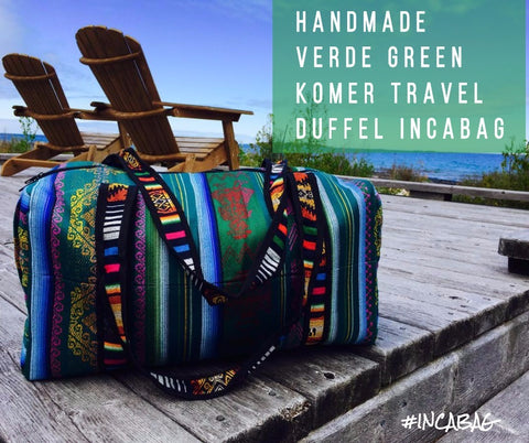 HANDMADE VERDE GREEN KOMER TRAVEL DUFFEL BAG