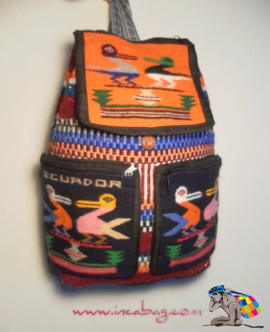 HANDMADE PISHQU INCA WOOL BACKPACK