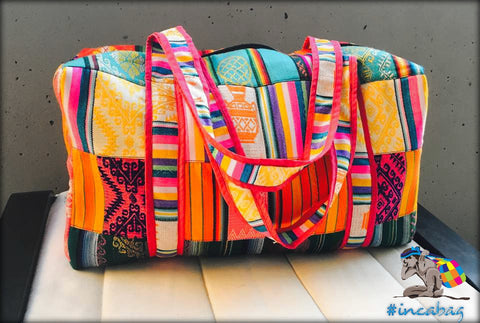 Int Sol Rainbow Duffel Handmade Bag