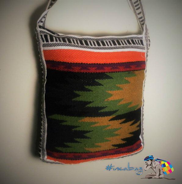 Vintage Handwoven Tuti Travel Wool Messenger Bag from Otavalo Ecuador