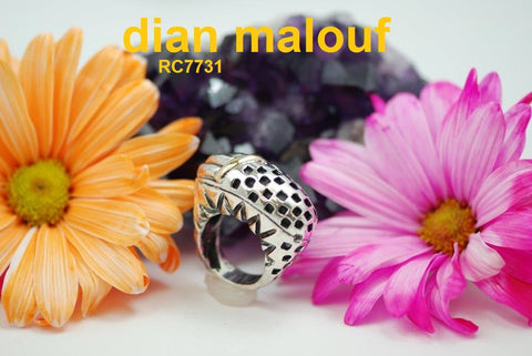 rc7731 - checkerboard top ring with gold bar