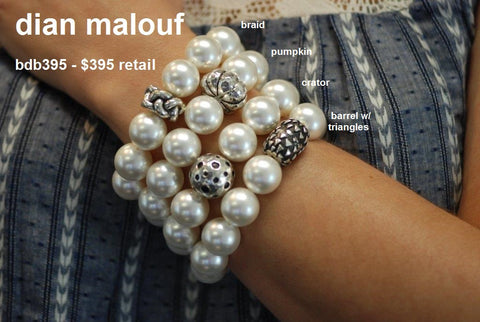Mother of Pearl Bracelets (choose your bead) (each bracelet is sold separately)