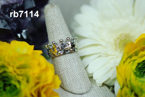 Crown Ring with 14k Gold Cross (rb7114) (no stone)