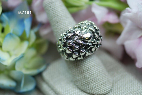 rs7181 silver puffy heart ring