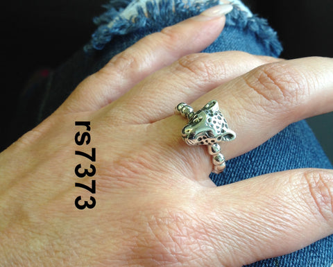 "a little ""walk on the WILD side"" - Leopard charm ring"