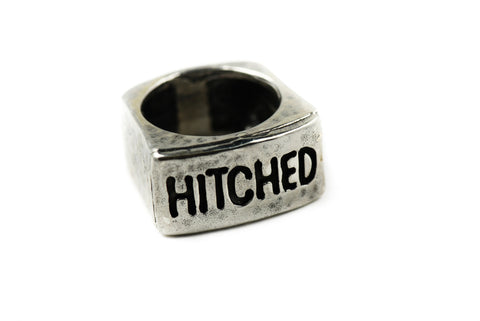 "Men's Sterling Silver ""Hitched"" Ring"