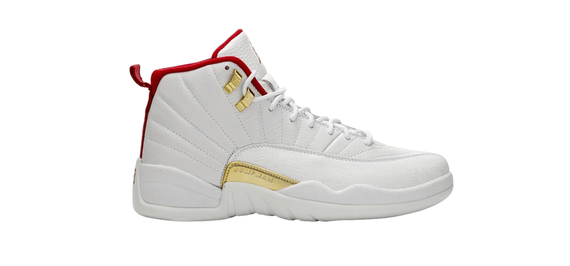 Air Jordan 12 Retro 'FIBA' WHITE/UNIVERSITY RED-METALLIC GOLD