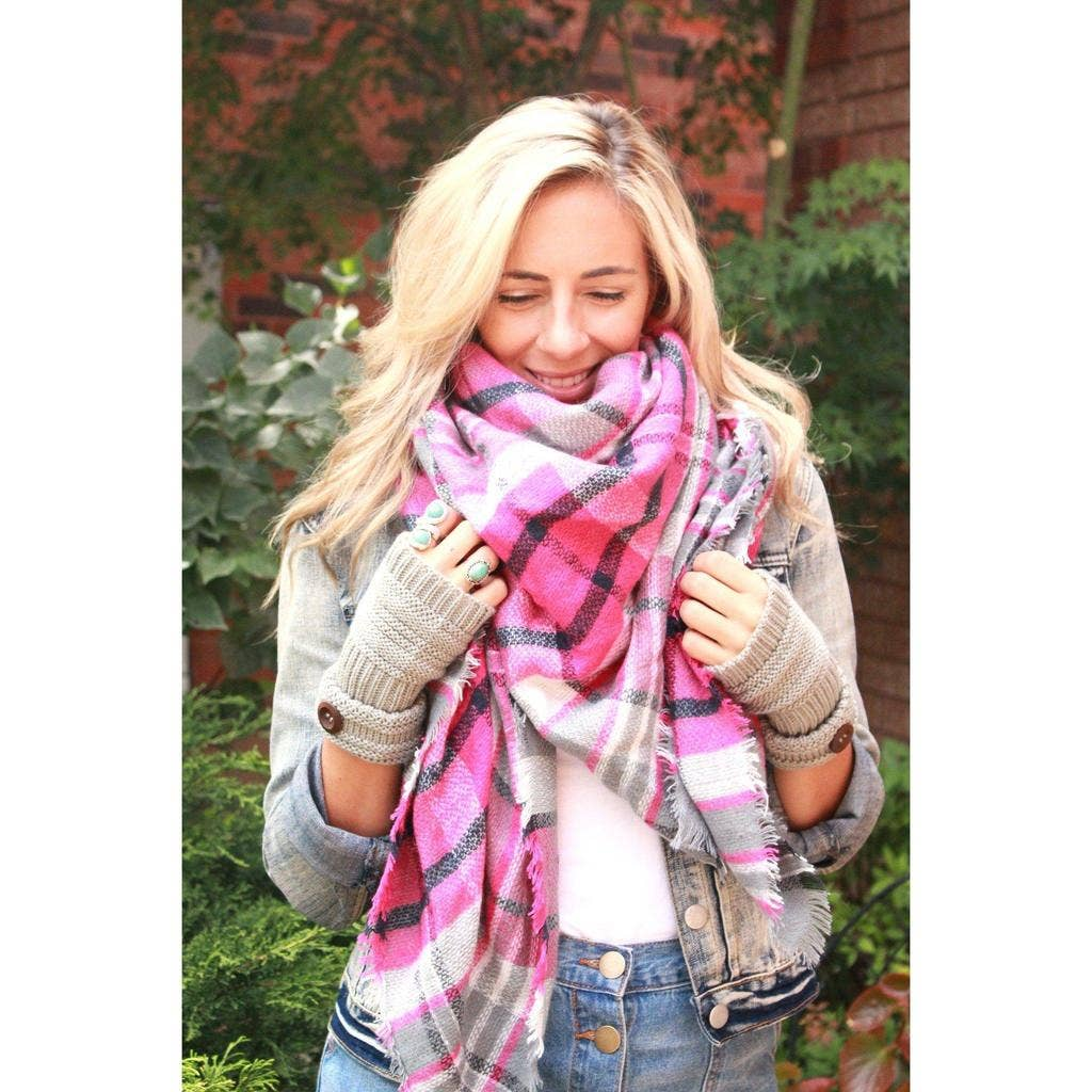 Beautifull Boundaries - Flamingo Blanket Scarf