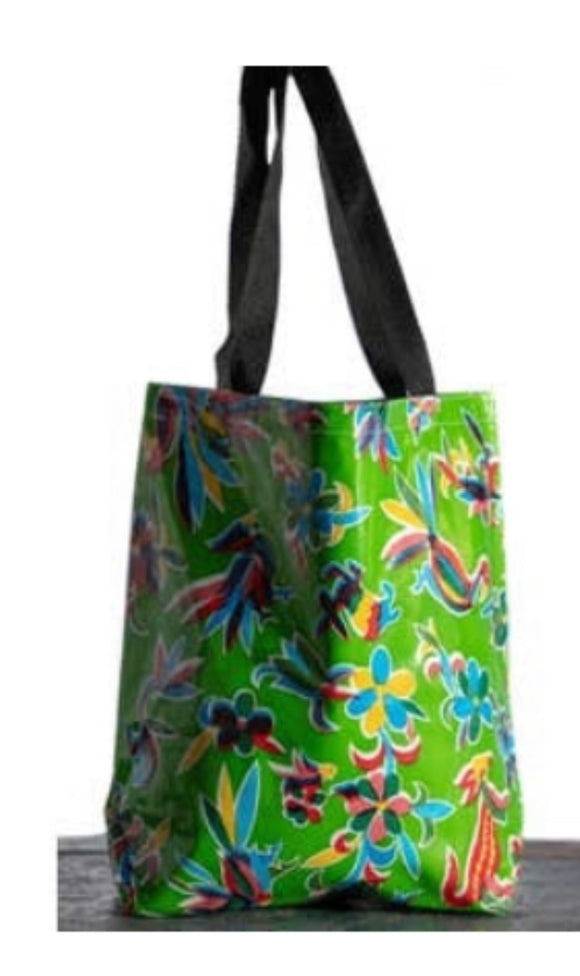 Oilcloth International - Green Aztec Tote - Medium