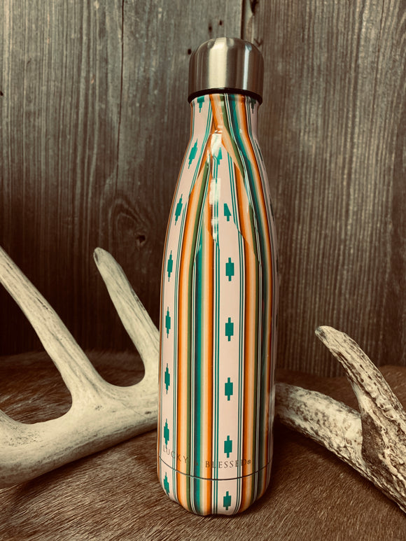 Ivory Aztec Serape Water Bottle